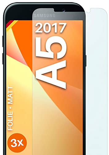 moex Protector de pantalla mate compatible con Samsung Galaxy A5 (2017) – Protector de pantalla antirreflectante, protector de pantalla mate – 3 unidades