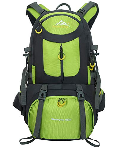 Escursionismo Viaggio Zaino 40L / 50L / 60L - Daypack Outdoor Campeggio Viaggi Trekking Arrampicata Zaino Uomini Donne, verde, 40L