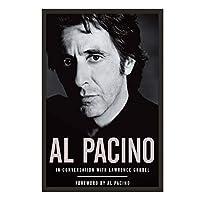 IDOLN1 アル・パチーノ俳優映画スター白黒ポスター絵画アートポスタープリントキャンバス家の装飾写真ウォールプリント-50x75cmフレームなし1PCS
