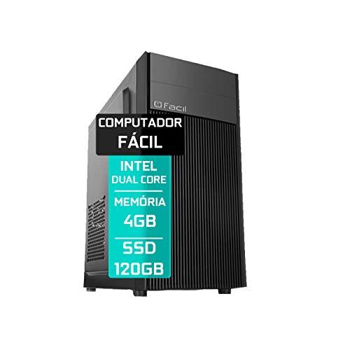 Computador Fácil Intel Pentium Dual Core 4GB DDR3 SSD 120GB