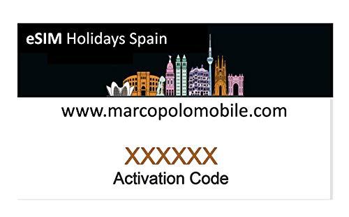 eSIM Orange - Tarjeta eSIM (virtual) Prepago Holidays Spain, 40 GB en España, 11 GB en Europa