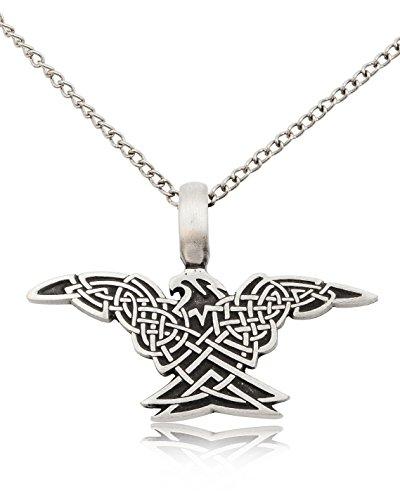 Vietguild Celtic Phoenix Silver Pewter Charm Necklace Pendant Jewelry