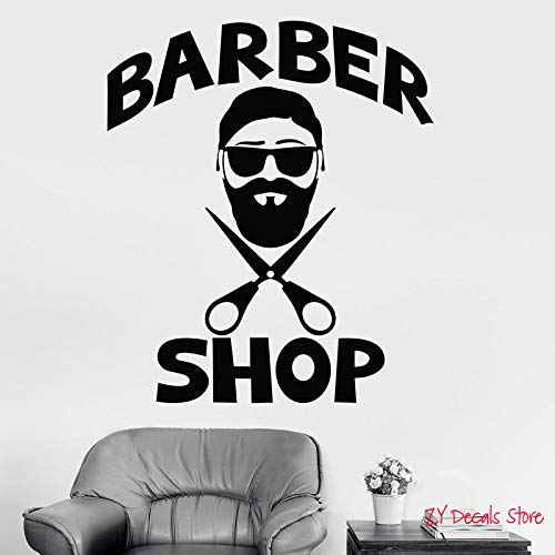 Tianpengyuanshuai kapsel vinyl wandtattoos heren kapsalon kapsalon barbershop aftrekplaatjes