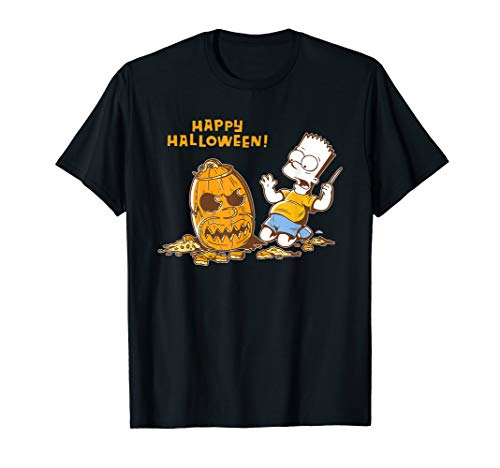 The Simpsons Bart Carves a Homer Pumpkin Halloween T-Shirt
