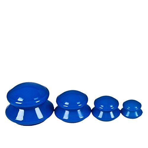 Ventosa de masaje de silicona, FantasyDay 4 Piezas anti celulitis de vacío de silicona masaje - Ventosas de Aspiración Ideal para Dolor Muscular, Alivio del Dolor, Recuperación de Lesión