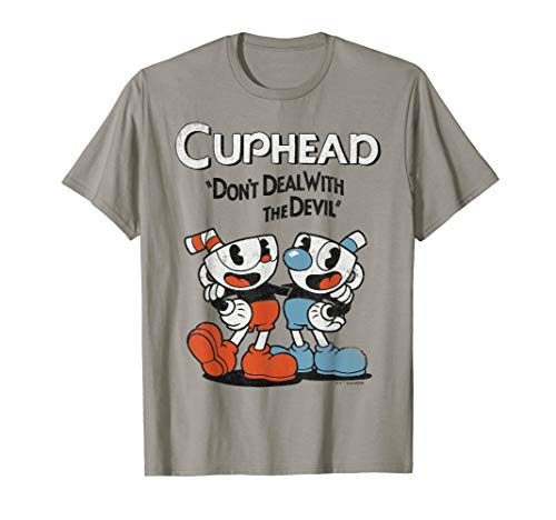 Cuphead & Mugman Don't Deal With The Devil Graphic T-Shirt