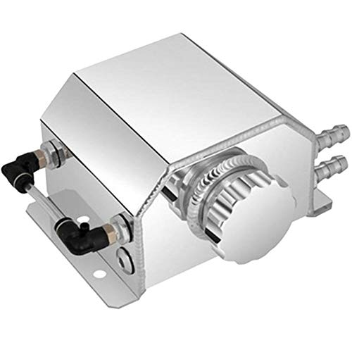 Catch universal 1L Aceite de coche puede aluminio durable colector de condensados tapón del respiradero del tanque de aceite pueden ser, por Auto del tanque del depósito de aceite de ventila