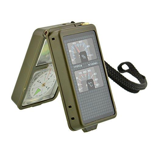 Relefree - Kit Compass, bussola multiuso per campeggio, trekking strumento di sopravvivenza 10in 1