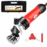 TOLYS 380W Electric Sheep Shears, Portable Sheep Clippers with 6 Speed,Electric Goat Shears for Sheep Goat Llama Horse Alpacas Thick Coat and Heavy Duty Animals Hair Fur Grooming,