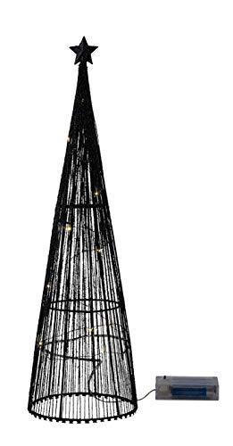 Miss Lovely Elegante Cono/Moderno Albero di Abete/Piramide Decorativa LED Illuminato Nero & Oro Glitter Decorazione/Decorazione di Natale Decorazione Avvento Natale Regalo Inverno casa Decorazione