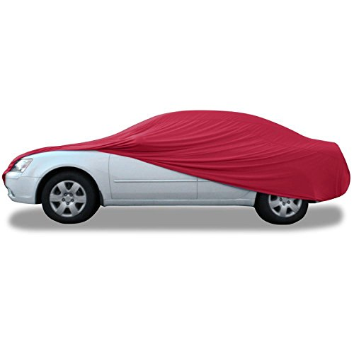 Budge Indoor Stretch Car Cover, Luxury Indoor Protection, Soft Inner Lining, Breathable, Dustproof, Car Cover fits Cars up to 228