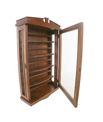 CAL FUSTER - Vitrina de madera para dedales con puertas de cristal. Medidas: 74x43x15 cm.