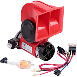 FARBIN Air Horn for Ford//Chevrolet Cruz//Cadillac//Buick New Lacrosse,Car Horn 12V 150db Super Loud,with Relay Wiring Harness and 2Pcs Connector Harnesses Cable