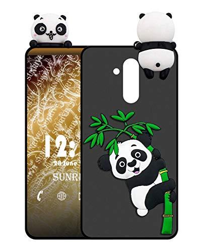 Sunrive Für TP-Link Neffos X9 Hülle Silikon, Handyhülle matt Schutzhülle Etui 3D Case Backcover für TP-Link Neffos X9(W1 Panda 2) MEHRWEG+Gratis Universal Eingabestift