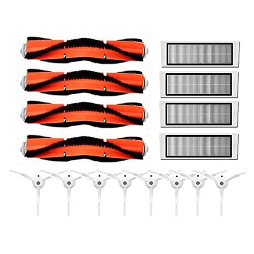 piao piao - Kit de cepillo principal lavable para Xiaomi Mi Vacuum 1st Robot Roborock S50 S51 S55 S6 E35 T60 T61 T65 piezas (color como se muestra en la imagen)