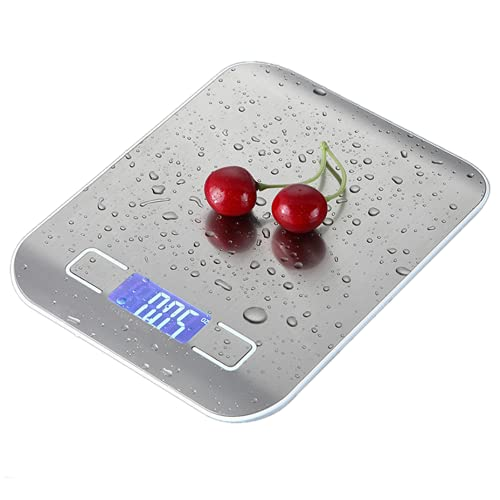 Smart Digitale Bilancia da cucina Elettronica, Professionale Acciaio Inox Alta Precision Bilancia Elettronica pet la Casa e la Cucina con Funzione Tare -5kg / 1g