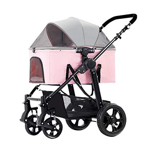 Hundebuggy bis 20 Kg Haustier Kinderwagen für Mittlere Kleine Hunde Upgraded Jogger Hund Pram Spaziergänger,...