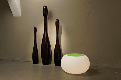 Moree Bubble Indoor LED Beistelltisch, Opal mit Farbwechselfunktion