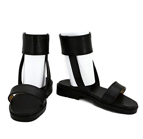Naruto Anime Hyuga Hinata Cosplay Shoes Boots Custom Made Nine-Tails Chakra Mode Black