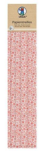 Ursus 57500012 - Papierstreifen Weihnachten, ca. 47,5 cm, 5 verschiedenen Breiten, rot/weiß