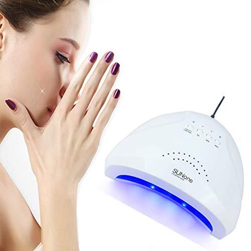 AIYIFU SUNone Professional LED UV Lampe 48W Nageltrockner Gel mit Doppelter Lichtquelle Maniküre-Maschine zum Aushärten Von Nagelgel Art Salon Tool,