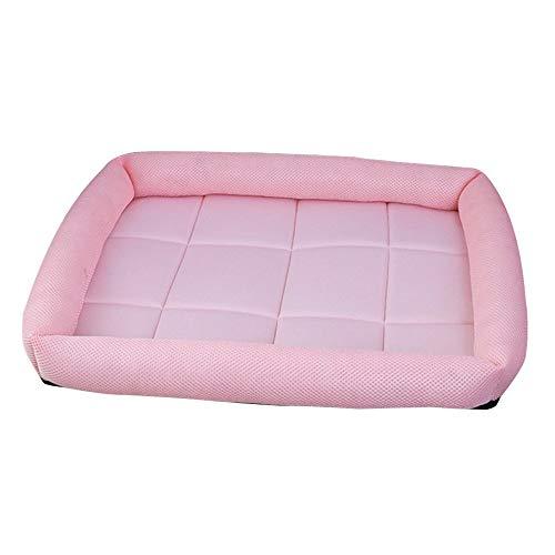 Lsv-8 - Sofá Cama para Mascotas, Color Rosa y Rosa, de Seda, para Gatos o Cachorros, tamaño M, 64 x 52 cm