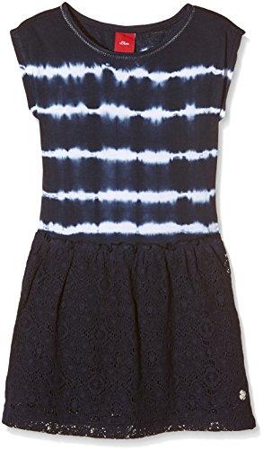 s.Oliver Mädchen 53.604.82.2510 Kleid, Mehrfarbig (Dark Blue AOP 58A3), (Herstellergröße: 98/REG)
