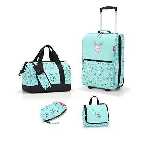 Zeer mooie Reisenthel reisset voor kinderen 4-delig. Bestaande uit reiskoffer/trolley XS + reistas/allrounder M + toilettas/toilettas S + portemonnee in trendy design Cat