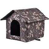 Casa para gato exterior, caseta de invierno para gato, caseta, extraíble, suave y cálida, para gato, perro, conejo, cachorro.