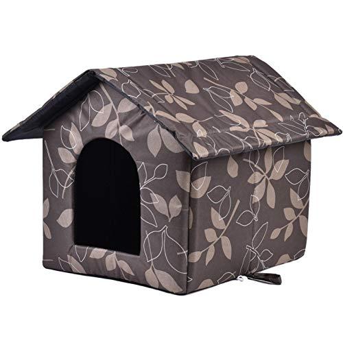 Casetta per gatto esterno, cuccia invernale rimovibile morbida e calda per gatto, cane, coniglio, cucciolo