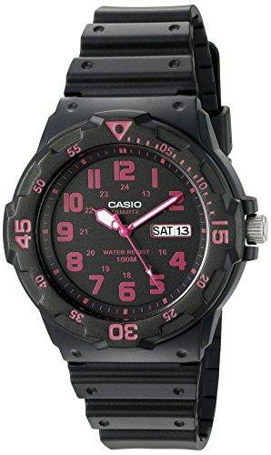 Casio Men's 'Classic' Quartz Resin Watch, Color:Black (Model: MRW200H-4CV)