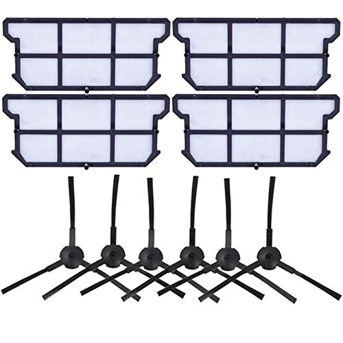 L-Yune, Cepillo Principal Cepillo Lateral del Filtro Hepa Prueba de Polvo for ILIFE V7 V7s V7S Pro Robot Aspirador de reemplazo de Piezas de Repuesto (tamaño : 10pcs)