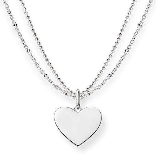 THOMAS SABO Damen-Kette Love Bridge Herz 925 Sterling Silber Länge 40 bis 45 cm LBKE0004-001-12-L45v