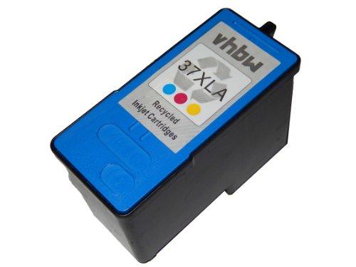 vhbw Cartuchos para Impresora, Cartuchos de Tinta de Color para Lexmark X3630 X3690 X4630 X4650 X5690 X6650 X6675 Z2400 por 37, 18C2180E.