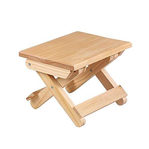 TYUIO Mini Klappstuhl, Portable Holz im Freien Angeln Hocker, kleine Bank, Warteschlange Artefakt Camping Stuhl