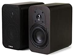 The Micca RB42 bookshelf speaker celebrates music reproduction in a handsome package, delivering the next step up in compact speaker performance. With curiously robust bass output and a silky smooth sound signature, it renders all musical genres with...
