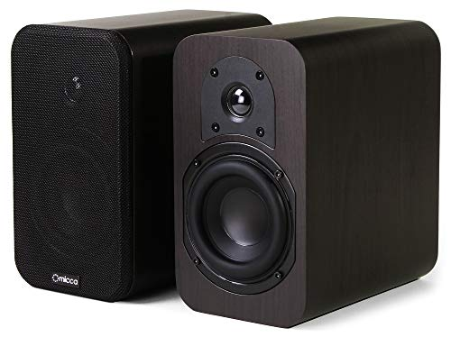 Great Deal! Micca RB42 Reference Bookshelf Speaker with 4-Inch Woofer and Silk Tweeter (Dark Walnut,...