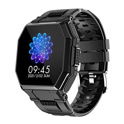 WEINANA Bluetooth Llamada Reloj Inteligente Ejercicio podómetro Ritmo cardíaco monitorización del sueño Reloj Inteligente Pulsera Inteligente a Prueba de Agua(Color:A)