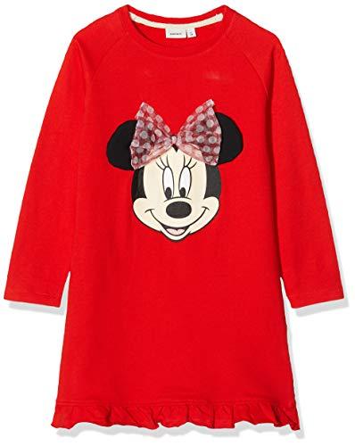 NAME IT Nmfminnie Annie Swe BRU Dress Wdi Vestido, Rojo (Poppy Red Poppy Red),...
