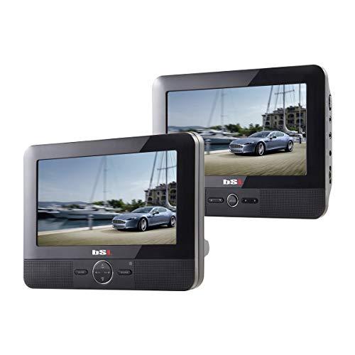BSL 7D - DVD Portátil para Coche, 2 Pantallas (LCD TFT 7 Pulgadas), USB, Lector de Tarjetas SD, Color Negro (Reacondicionado)