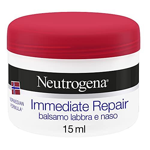 Neutrogena Balsamo Labbra, Formula Norvegese, Rigenerante, per Labbra Screpolate e Naso, 15 ml