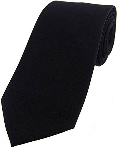 David Van Hagen Cravate noire satin de soie de