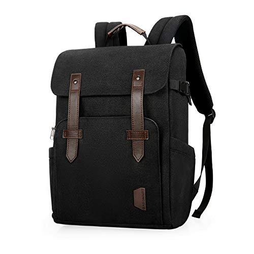BAGSMART Camera Backpack Anti-Theft DSLR SLR Camera Bag Fit up to 15 '' Laptop with Waterproof Rain Cover Tripod Holder (Black)