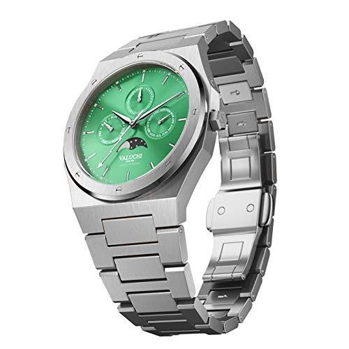 Valuchi Reloj Lunar Calendar - Plata Verde