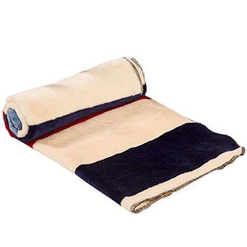 Tauser Manta para Mascotas Coral Fleece Thicken Warm Kennel Mat Rectangle Dog Blanket Suministros para Camas