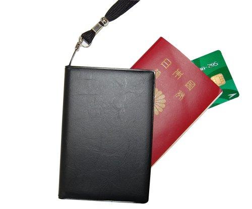 スキミング防止 パスポートカバー AEGIS ブラック 6502