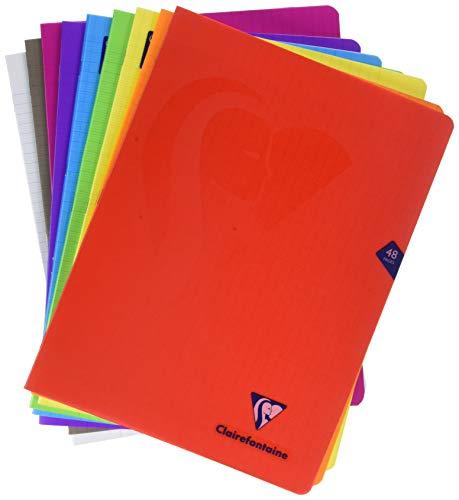 Clairefontaine 299311AMZC - Lote de 9 cuadernos grapados con cubierta