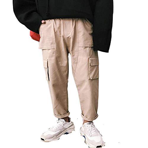 Pantalon décontracté pour Hommes, Couleur Unie, Grande Taille, lâche, Neuf Points, Salopette, Mode Sauvage