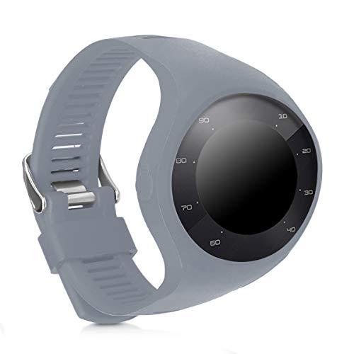 kwmobile Brazalete Compatible con Polar M200 - Pulsera de Silicona en Gris sin Fitness Tracker
