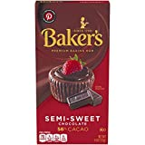 Baker's Premium Semi-Sweet Chocolate Baking Bar (4 oz Boxes, Pack of 12)